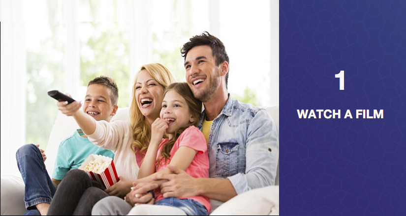 Watch movies online with family