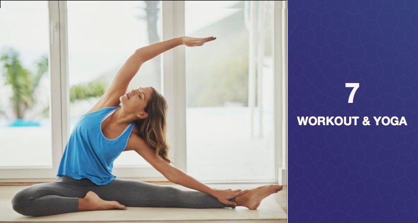 workout yoga exercise at home