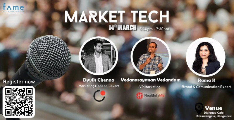 Market-Tech Event At Dialogues cafe, Koramangala