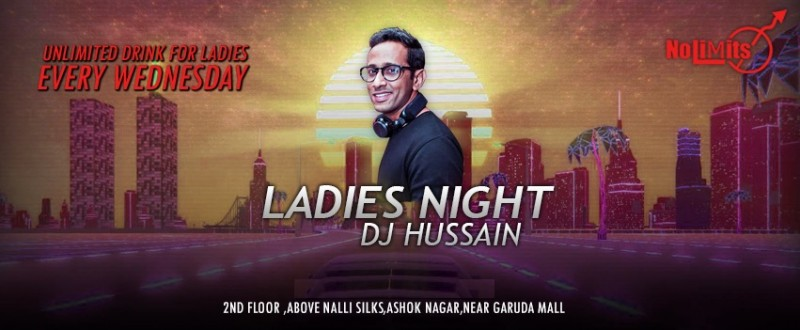 Bollywood Ladies Night Featuring Dj Hussain At Nolimmits Lounge & Club