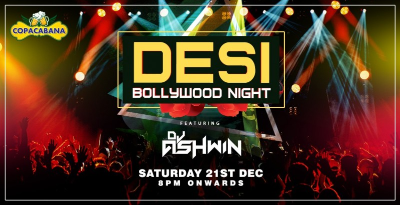 Saturday | Desi Bollywood Night Ft DJ Ashwin