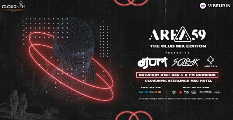 Area59 ft. DJ Uri, Solrak & DJ Ashtrix / 21st Dec / CloudNYN.