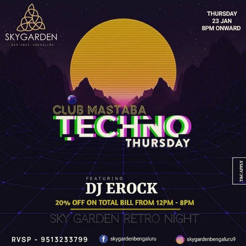 Techno Thursday At Skygarden