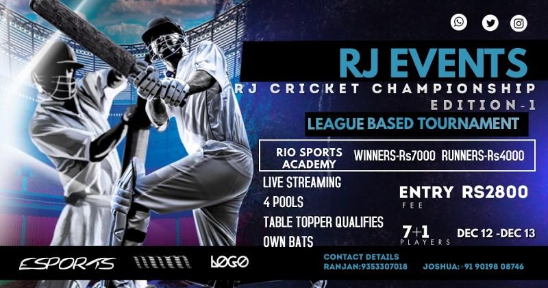 RJ Cricket Championship- Edition 1