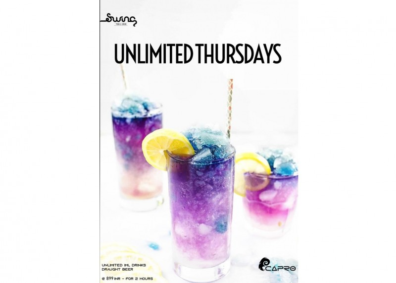 Unlimited Thursday's At Swing Indiranagar