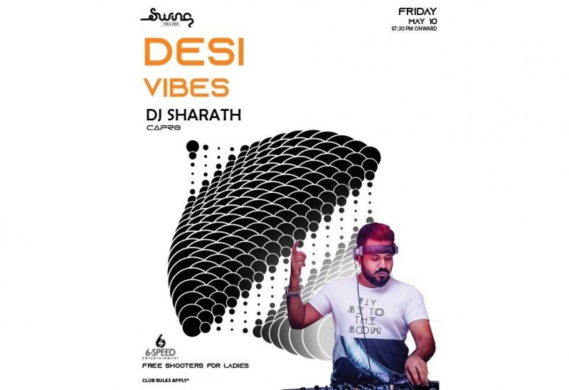 Bollywood Night Desi Vibes With Dj Sharath At Swing