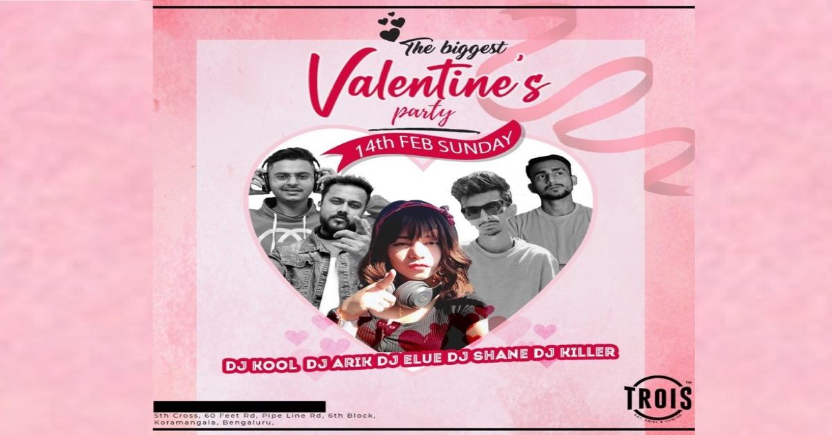 The Biggest Valentine's Day Party | Trois Pub